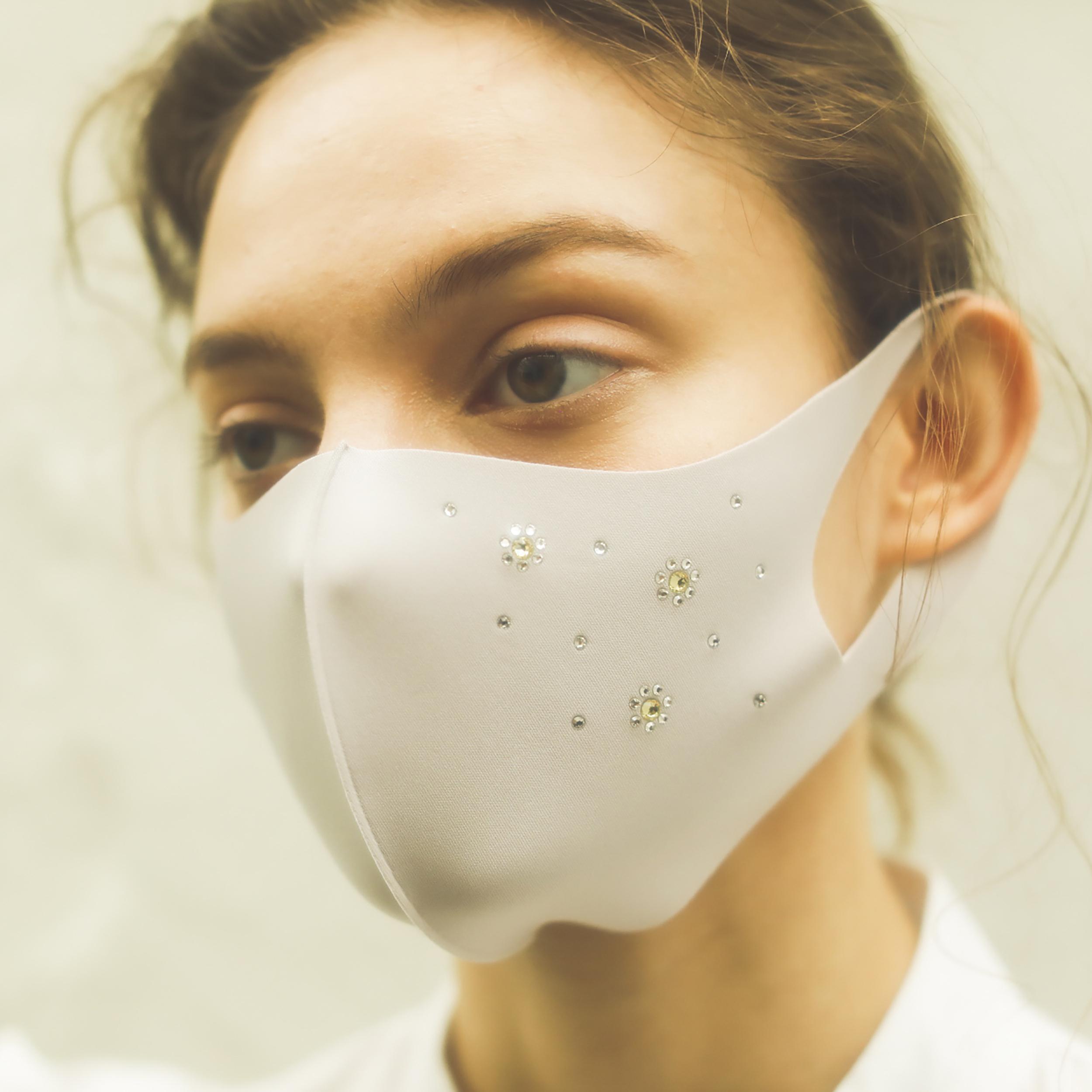マスク/ビジューフラワーマスク