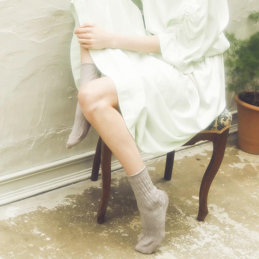 ソックス/ケーブル編み靴下