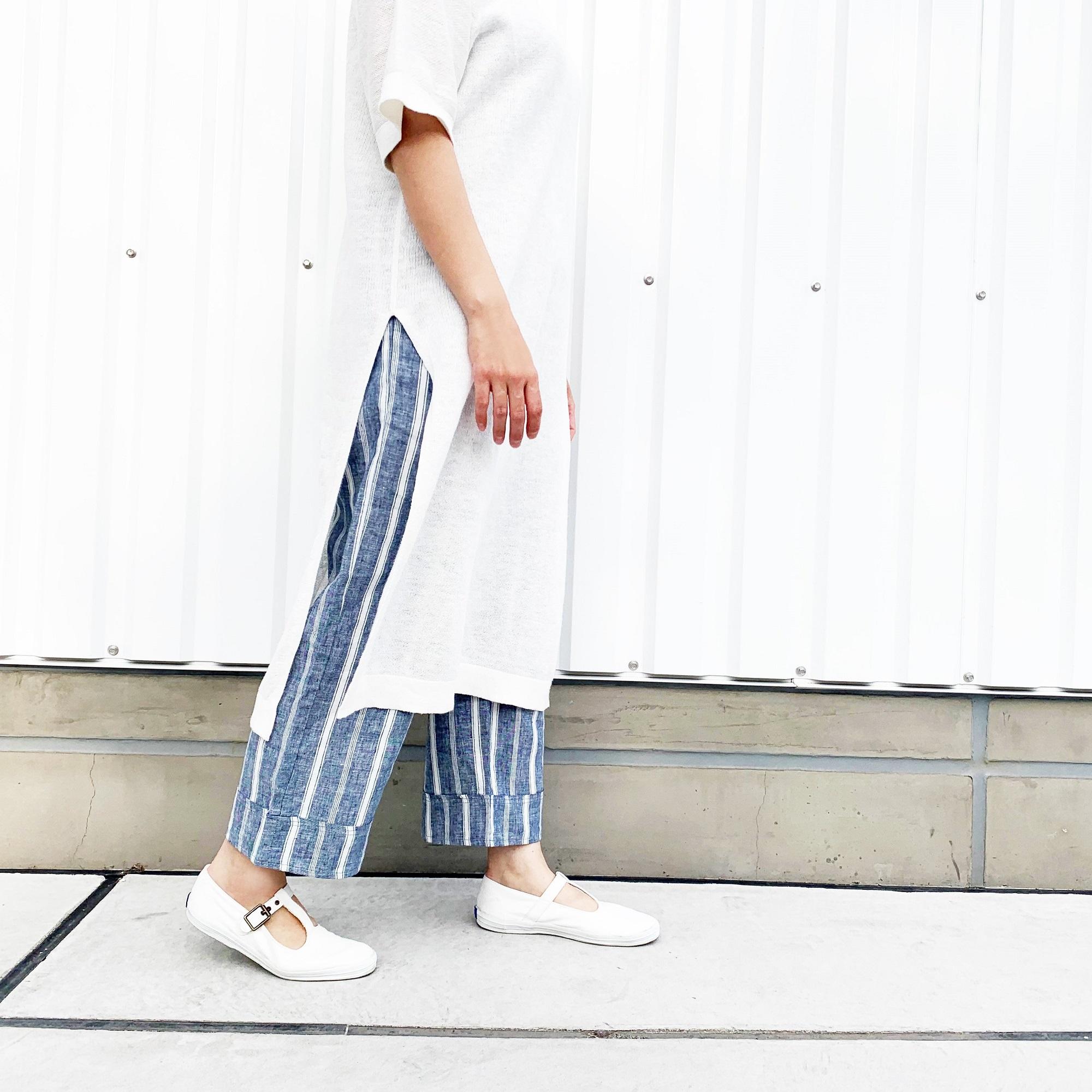 パンツ/フレンチリネンセミワイド
